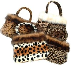 ONE ANIMAL PRINT FUR BAG #7344-SHIPS ASSORTED $2.50 Leopard Prints, Animal Prints, Fur Bag, Baby Animals, Madness, Winter Hats, Ships, Birthday, Cute