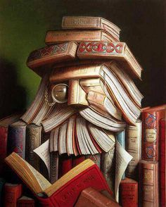 Ritemail: Creative Crafts of Old books - Just had to use this as my cover for Books worth reading I Love Books, Books To Read, Reading Books, Happy Reading, Giuseppe Arcimboldo, Illustrations, Old Books, Idea Books, Book Nooks