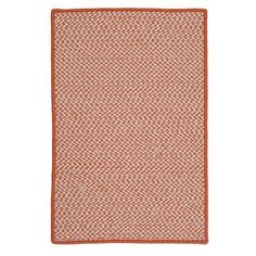 Colonial Mills Outdoor Houndstooth Tweed Orange Rug Rug Size: Runner 2' x 10'