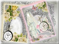 Diseño invitaciones y tarjetas Pilar J. Arqués: Invitación de boda vintage reloj…