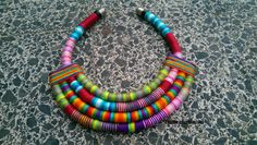 Zoe Statement necklace Colorful Necklace by UtopiaManufactory
