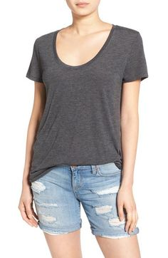 BP. Scoop Neck Boyfriend Tee (2 for $28) available at #Nordstrom  BLACK, SIZE SMALL