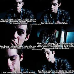 Awww poor Stiles :( Teen wolf