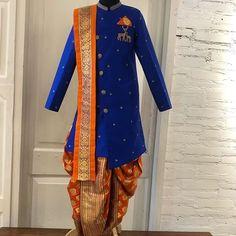 Kids Indian Wear, Kids Ethnic Wear, Indian Groom Wear, Indian Man, Kids Dress Wear, Boys Wear, Men Dress, Half Saree Function, Dress Paterns