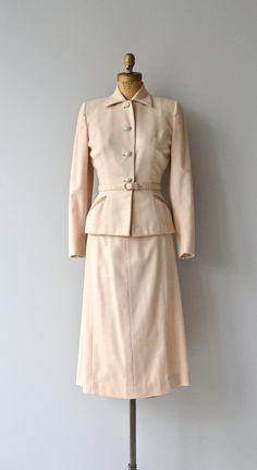 Handmacher wool suit 1950s wool suit vintage wool by DearGolden