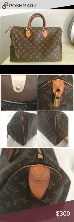 Louis Vuitton Speedy 35 Used LV Speedy 35.  Bought about 6 months ago, great purse I just don't use it enough.  Needs to brighten someone else's closet!   Offers welcome 🙃😀 Louis Vuitton Bags