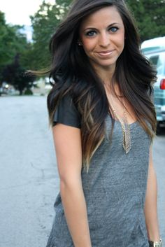 subtle ombre. @Morgan Jones this would be cute on you! Except maybe a less blonde color. :)