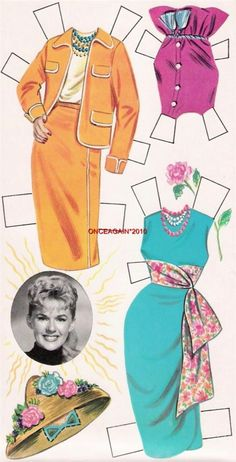 VINTAGE UNCUT 1961 MOONSPINNERS HAYLEY PAPER DOLLS HD REPRODUCTION~LO Pr