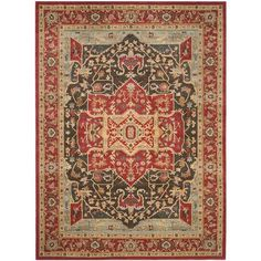 Safavieh Mahal Red Area Rug Rug Size: 8' x 11'