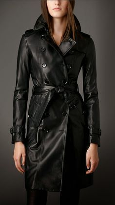 #leather trench coat