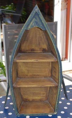 Vintage-Boat-Shaped-Wooden-Shelf-Unit