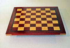 "17/"" Padauk /& Maple Wood Chess Board LARGE 2/"" SQUARES"