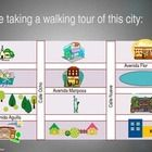 This 15 slide PowerPoint presentation has a map of a city and gives directions from point A to point B.  Students follow along and practice being a...