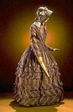 1842-1850 Cotton Daydress