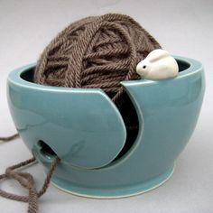 Heart Bunnies Yarn Bowl
