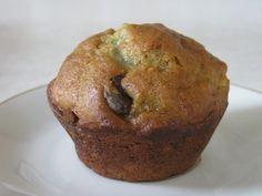 Avocado-Banana-Chocolate Chip Muffins