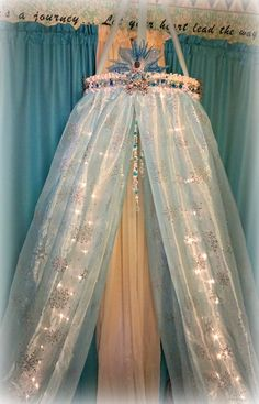 Snow Princess-Ice Canopy-Frozen In Time Canopy-Bed by DesignsByANM