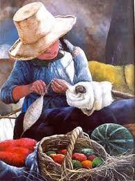 cuadro representativo del peru - Buscar con Google Mexican Paintings, Hispanic Art, Peruvian Art, Cuban Art, Mexico Art, Painting People, Arte Popular, Indigenous Art, Watercolor Sketch