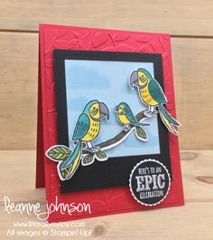 Three Little Birds | Stampin\' Up! | Best Birds | Bird Banter | Epic Celebrations #literallymyjoy #birds #celebrating #baby #congratulations #celebrate #stampinblends #heatembossing #2018OccasionsCatalog #20172018AnnualCatalog #2018SaleABrationCatalog