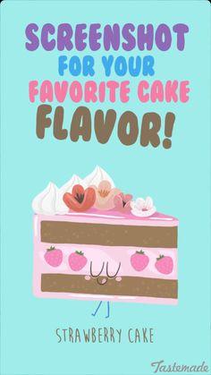 Tastemade media illustrations on snapchat. Strawberry cake drawing