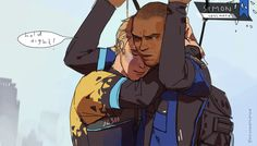 Detroit become human Detroit Being Human, Detroit Become Human, Luther, David Cage, Art Gay, Quantic Dream, Becoming Human, Online Comics, I Like Dogs