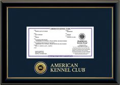 American Kennel Club (@American Kennel Club) Certificate