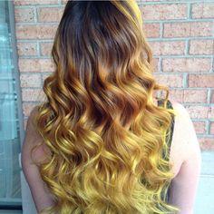 Balayage+Goldenrod+Curls