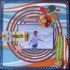 Beach Scrapbook Layouts, Vacation Scrapbook, Scrapbook Layout Sketches, 12x12 Scrapbook, Disney Scrapbook, Scrapbook Paper Crafts, Scrapbooking Layouts, Travel Scrapbook Pages, Scrapbook Photos