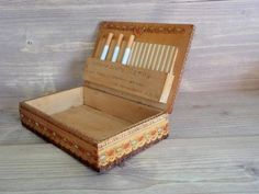 Vintage Wooden Tobacco Box Tobacco Cigarette Holder from