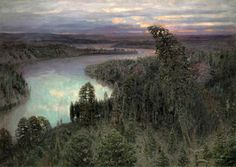 Apollinary Mikhailovich Vasnetsov - the great Russian artist - landscape painter recreated the image of the Severouralsk forests in his famous painting The Russian Painting, Russian Art, Russian Style, Landscape Drawings, Landscape Paintings, Wild Nature, Art Nature, American Artists, Great Artists