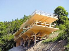 The online Architecture Exhibition Online Architecture, Timber Architecture, Contemporary Architecture, Architecture Design, Hillside House, Cliff House, House On Stilts, Timber Structure, Tower House