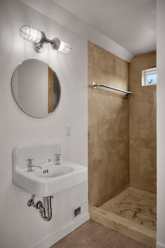 Incredible Bathroom Decor Ideas with Round Mirrors in White Wall Paint Color