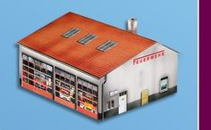 Marklin start up Fire Station (in A3 format)