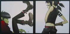 """Temporary """"Mural """" for South Bank by Jamie Hewlett"""