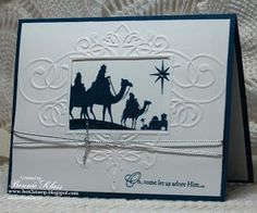 Stamping with Klass: Come to Bethlehem in Midnight