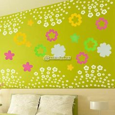 B98B Beautiful 42 Flowers Removable Wall Decal Stickers Art Decor Your Home New