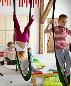 I want these swings and these crash mats, both great buys for the playroom. Thanks Ikea, but I can't find the swings sale price. Has anyone seen these in the stores? Basement Gym, Basement Remodeling, Basement Ideas, Playroom Ideas, Crash Mat, Casa Kids, Indoor Gym, Indoor Jungle Gym, Kids Gym