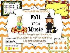 & into Music& with these fun lessons for the elementary music room - includes fall/autumn-themed and Halloween-themed lessons with many new songs for the season. Elementary Music Lessons, Music Lessons For Kids, Music Lesson Plans, Music For Kids, Piano Lessons, Piano Teaching, Learning Piano, Music Activities, Preschool Music