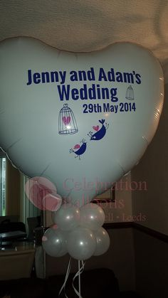 Wedding balloons from www.rothwellballoons.co.uk Personalised Balloons, Balloon Pictures, Celebration Balloons, Wedding Balloons, Wakefield, The Balloon, Leeds, Romantic, Create