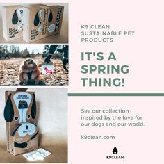 See our collection inspired by the love we have for our Dogs and our Environment 💕