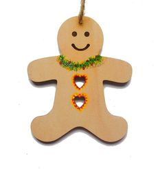 Wooden Christmas Decorations - Ginger Bread man £5.00