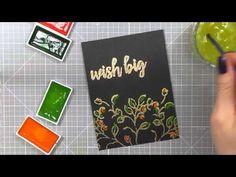 Sovushka Slavia: Card Sketch #37 | Sweet Kobylkin--using Gansai Tambi watercolors on black cardstock