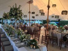 Head Table at Great Harbor Yacht Club Wedding