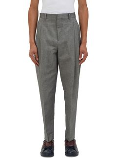 ACNE STUDIOS Men'S Piano Pleated Chevron Pants In Grey. #acnestudios #cloth #