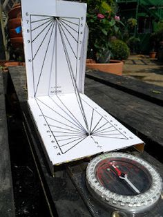 It is unlikely that this otherwise carefully constructed sundial will work correctly as shown. What condition would have to be present for it to work?