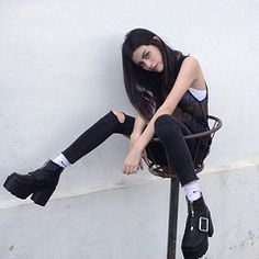Image via We Heart It https://weheartit.com/entry/168856311 #adidas #black #dark #grunge #outfit #pale #shoes #tumblr #unique #white