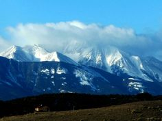 San Francisco Peaks in the clouds  Flagstaff Arizona. Photo by Carra Riley