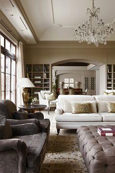 Classic living room by Julie Charbonneau #MakeLivingAnArt