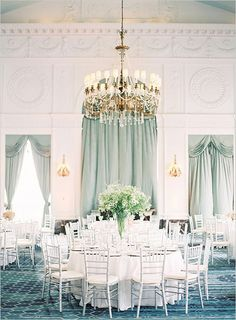 Gorgeous grayed jade curtains http://www.theperfectpalette.com/2014/04/now-trending-grayed-jade-vintage.html