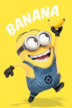 Minions with Banana - Yellow power!